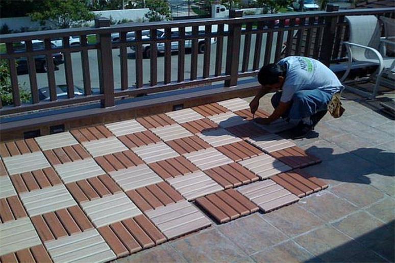 patio flooring options - how to build a deck over a concrete patio